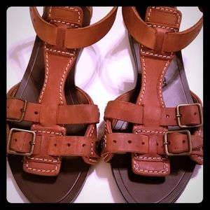 Burberry womens leather sandals 6.5